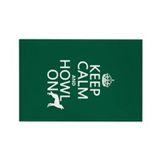 Keep Calm and Howl On (wolves) Rectangle Magnet