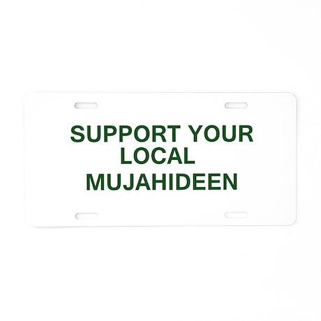mujahideen bump Aluminum License Plate