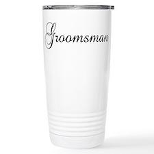 Groomsman Black Travel Mug