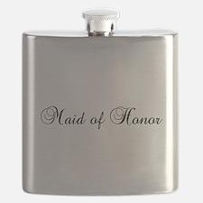 Maid Of Honor Black Flask