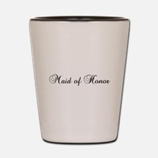 Maid Of Honor Black Shot Glass