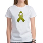 Olive Awareness Ribbon Women's T-Shirt
