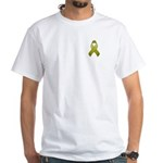 Olive Awareness Ribbon White T-Shirt