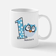 Customized Owl First Birthday Mug