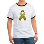 Olive Awareness Ribbon Ringer T