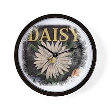Vintage Daisy Wall Clock