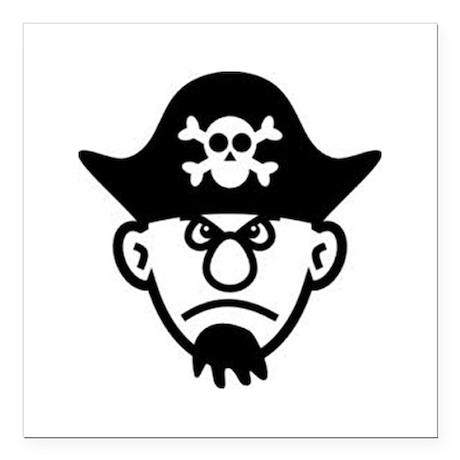"""Grumpy Pirate Square Car Magnet 3"""" x 3"""""""