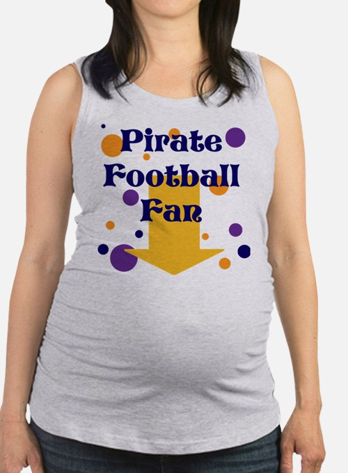 Ecu Pirate Football Maternity Tank Top