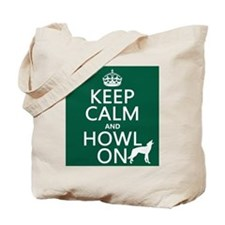 Keep Calm and Howl On (wolves) Tote Bag