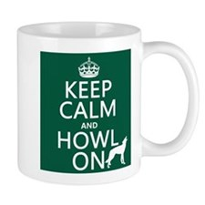 Keep Calm and Howl On (wolves) Small Mug