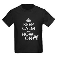 Keep Calm and Howl On (wolves) T-Shirt