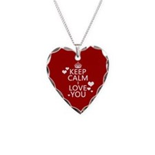Keep Calm I Love You Necklace