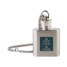 Keep Calm I'll Be There Flask Necklace
