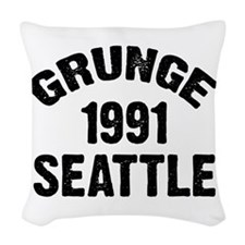SEATTLE 1991 GRUNGE Woven Throw Pillow