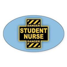 Danger Student Nurse Decal