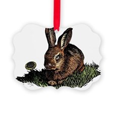 Colored Etching of Rabbit in the  Ornament