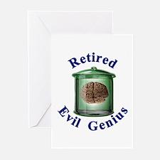 Retired Evil Genius  Greeting Cards (Pk of 10)