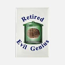 Retired Evil Genius Rectangle Magnet