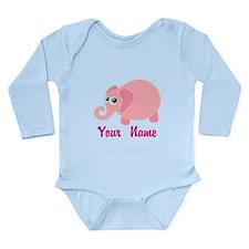 Personalized Baby Elephant Long Sleeve Infant Body