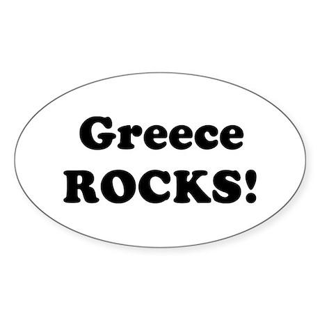 Greece Rocks! Oval Sticker