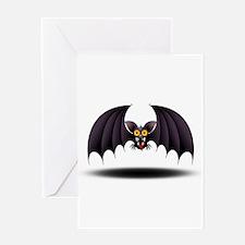 Bat Cartoon Greeting Card