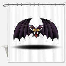 Bat Cartoon Shower Curtain