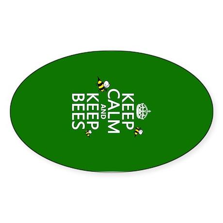 Keep Calm and Keep Bees Sticker