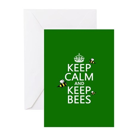 Keep Calm and Keep Bees Greeting Cards (Pk of 10)