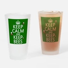 Keep Calm and Keep Bees Drinking Glass