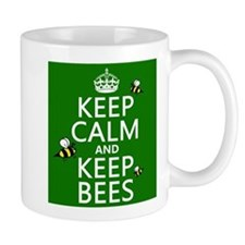 Keep Calm and Keep Bees Small Mug