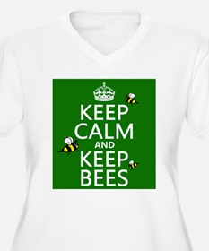 Keep Calm and Keep Bees Plus Size T-Shirt