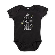 Keep Calm and Keep Bees Baby Bodysuit