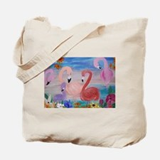 Flamingo Garden Tote Bag