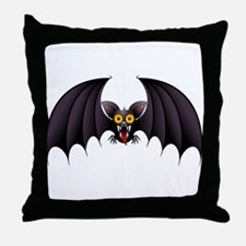 Bat Cartoon Throw Pillow