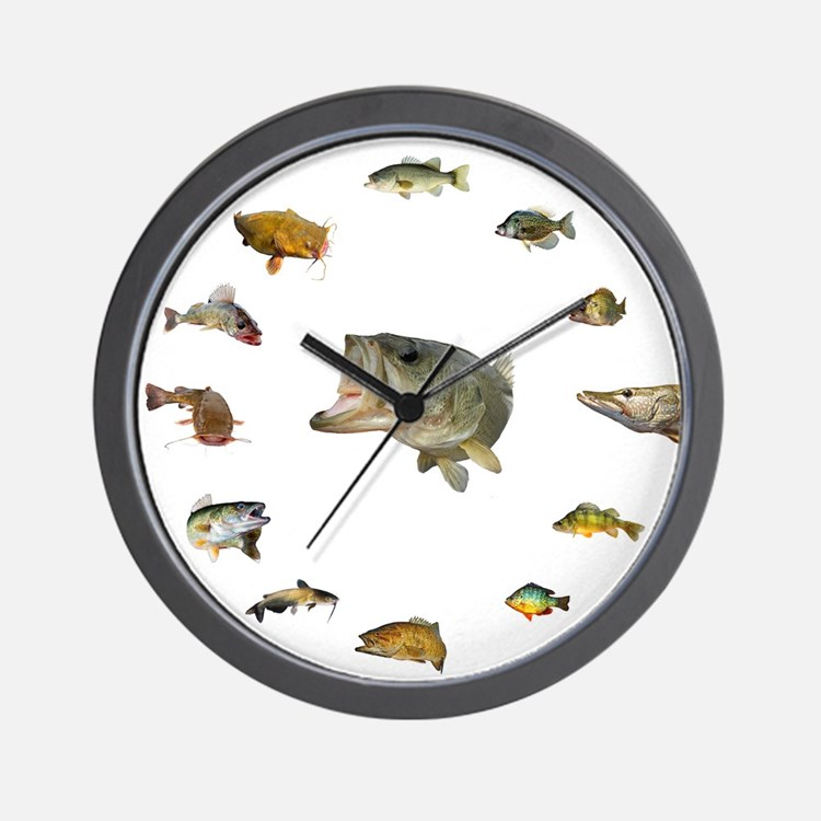 Fish clocks fish wall clocks large modern kitchen clocks for Fish wall clock