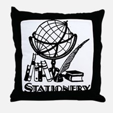 Retro Stationery Throw Pillow