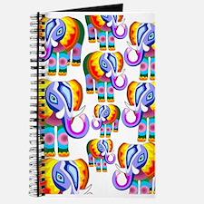 Elephant Rainbow Colors Patchwork Journal
