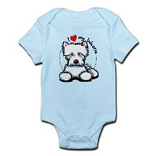 I Love Westies Infant Bodysuit
