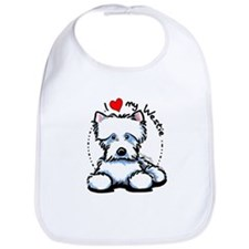 I Love Westies Bib