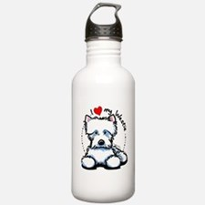 I Love Westies Water Bottle