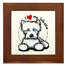 I Love Westies Framed Tile