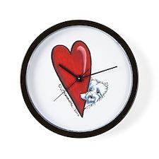 Big Heart WESTIE Wall Clock