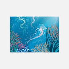 Jellyfish 5'x7'Area Rug