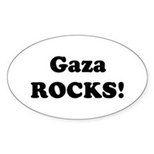 Gaza Rocks! Oval Decal
