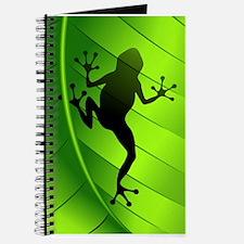 Frog Shape on Green Leaf Journal