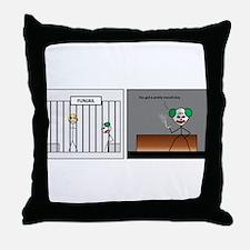 fun jail Throw Pillow