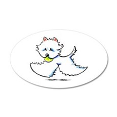 Westie Playtime Wall Decal