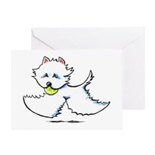 Westie Playtime Greeting Card