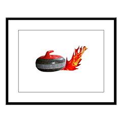 Flaming Rock Large Framed Print