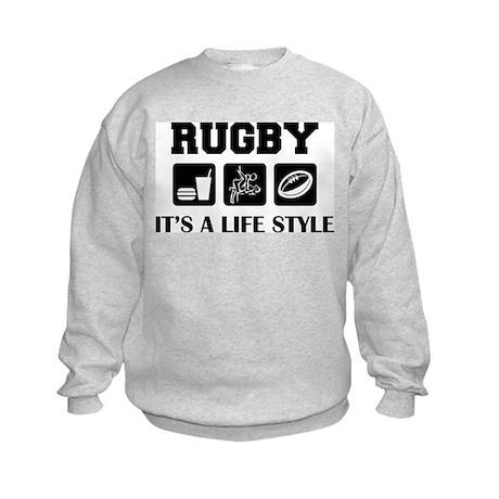 Food Sex Rugby Kids Sweatshirt